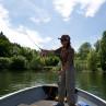 Hechtkurs Fliegenfischen Mirjana Pavlic mit Boot Möhnesee